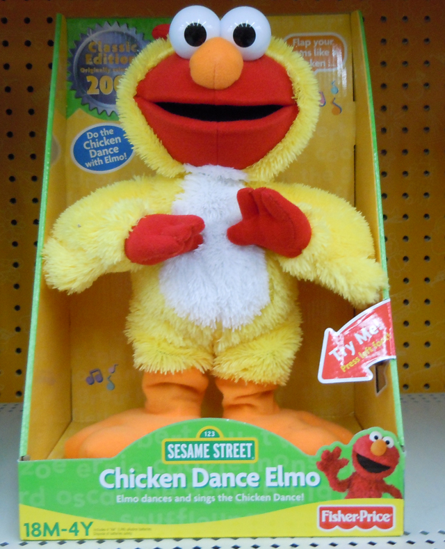 Fisher-Price In Box Pic of the Re-Release of Chicken Dance Elmo