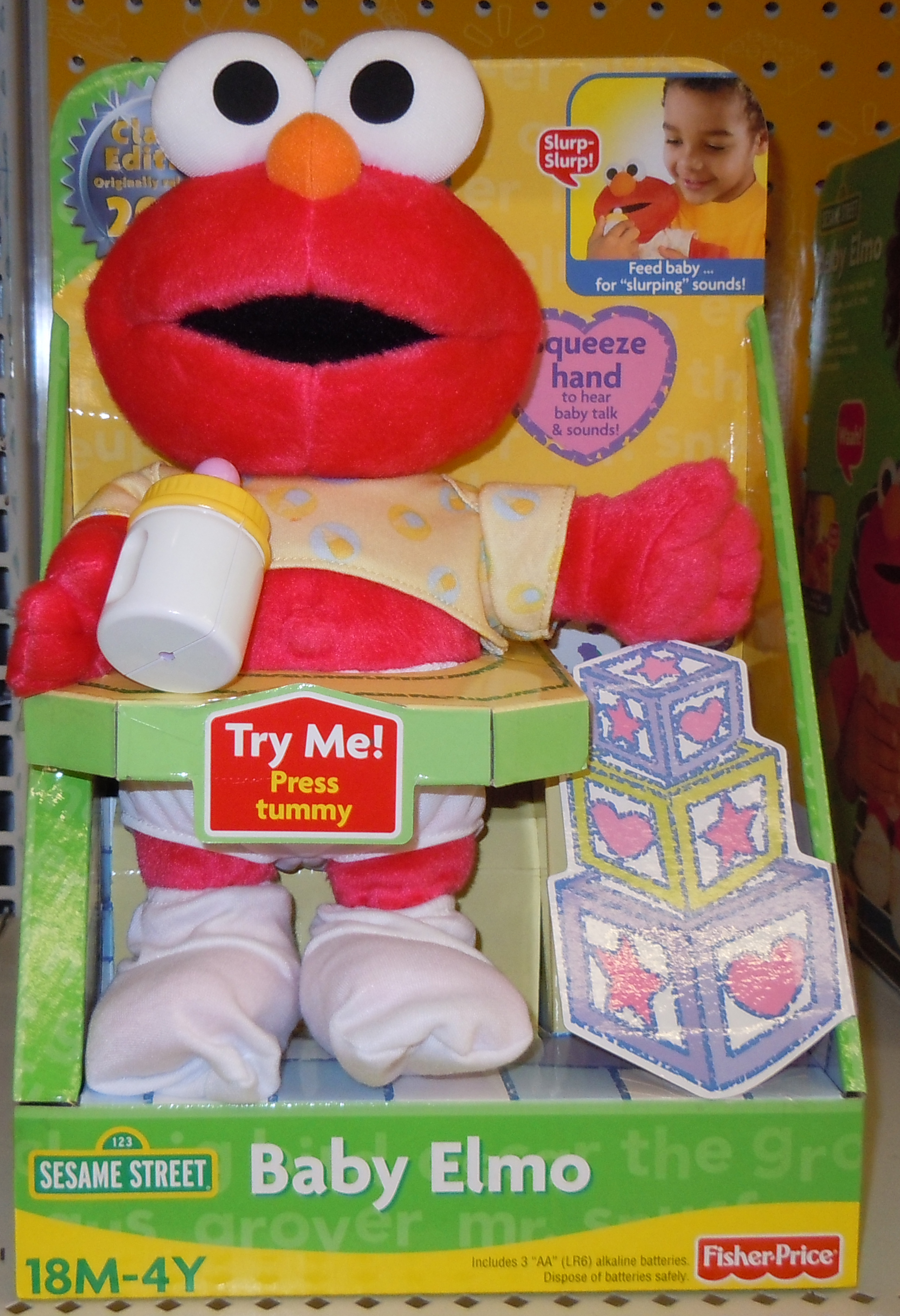 Fisher-Price In Box Pic of the Re-Release of Baby Elmo