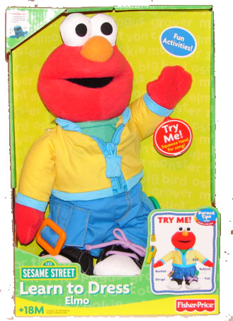 Fisher-Price Elmo  Model H9206  Learn to Dress Elmo