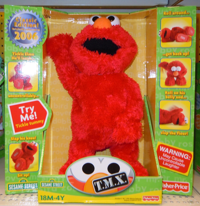 Fisher-Price In Box Pic of the Re-Release of T.M.X. Elmo